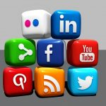 cubes of popular social media platforms' icons