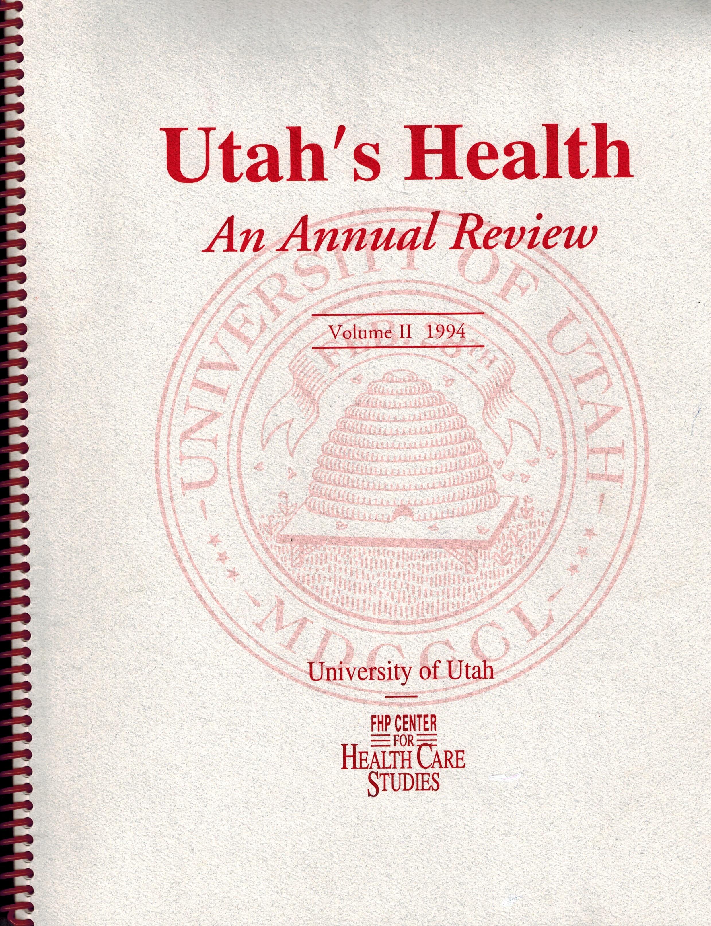 Utah's Health cover