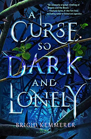 """A Curse So Dark and Lonely"" book cover"