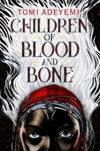 """""""Children of Blood and Bone"""" across a mass of white hair"""