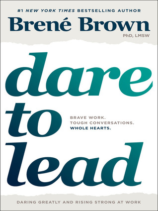 """""""Dare to Lead"""" in big turquoise letters"""